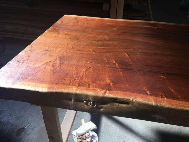 Ipe live edge slab with finish hardwood source for Finishing live edge wood